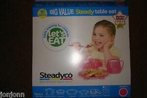 Steadyco Steady Table Set Pink 16 Pieces  BRAND NEW    BEST PRICE ON EBAY - Bristol, United Kingdom - Steadyco Steady Table Set Pink 16 Pieces  BRAND NEW    BEST PRICE ON EBAY - Bristol, United Kingdom