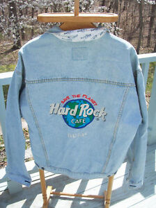 Vintage-Hard-Rock-Cafe-Denim-Jacket-Dallas-Save-Planet-HTF