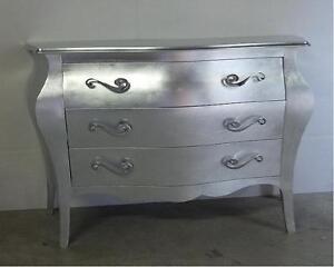 Comò bombato, foglia d\'argento | eBay