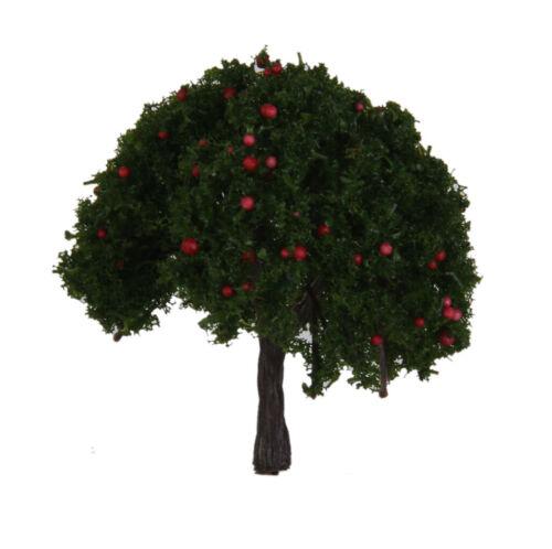 100 HO OO 20x Modell Apfel Obstbäume Layout Zug Eisenbahn Landschaft 1