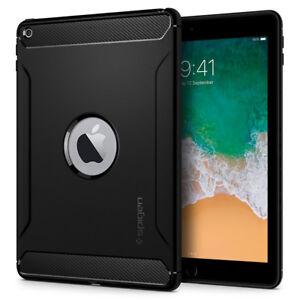 iPad-9-7-2018-2017-Case-Spigen-Rugged-Armor-Flexible-Shockproof-Carbon-Fiber
