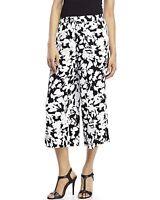 Kate Spade York Synna Leafy Floral Baggy Pants, Black White, Xs, $248