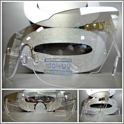 CLASSIC VINTAGE RETRO Style Day or Night SUN GLASSES Clear Lens with Slight Tint