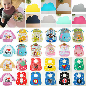 Waterproof-Bibs-Baby-Kids-Child-Cartoon-Saliva-Towel-Feeding-Placemat-Table-Pads