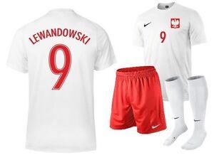 e0f656d48 Polska Lewandowski 9 MILIK 7 NAME NIKE POLAND Set Boys Kids Jersey ...