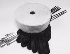 UNIVERSAL EXHAUST HEAT WRAP INSULATING TAPE WITH GLOVES AND 10  S/S TIES