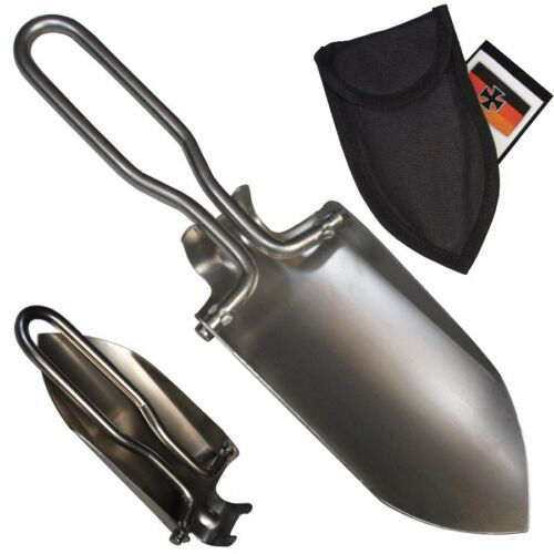 MFH BW Mini pelle Camping Extérieur Jardin pliable Mini pelle avec sac en nylon
