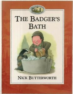 Percy-The-Park-Keeper-The-Badger-039-s-Bath-by-Nick-Butterworth-paperback