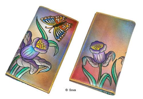 Sova Hand Painted Credit Card Long Wallet