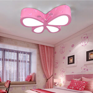 Modern LED Butterfly Ceiling Lamp Kids Bedroom Pendant Light Xmas - Butterfly lights for bedroom