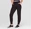 JoyLab-Women-039-s-Cozy-and-Plush-Black-Mid-Rise-Zipper-Ankle-Jogger-Pants-New thumbnail 1