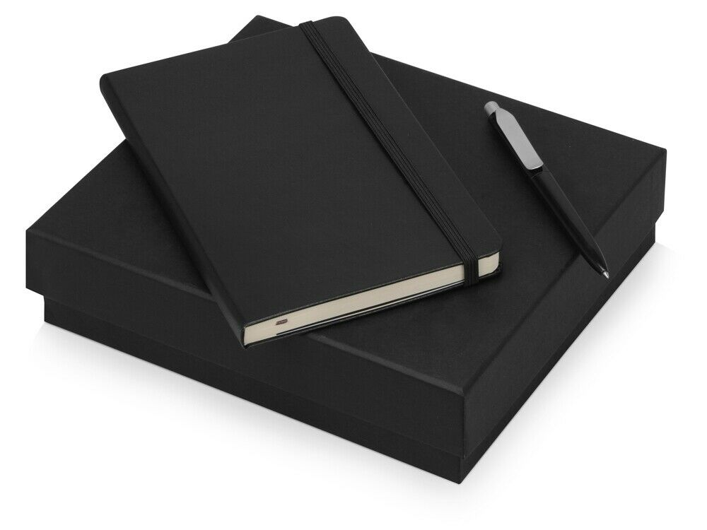 Gift Set Moleskine Picasso A5 Notepad With Pen And Paper Black Polyurethane P...