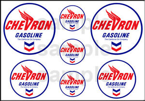 1 1/2 3/4 INCH CHEVRON GASOLINE GAS STATION BUILDING SIGN DECALS STICKERS