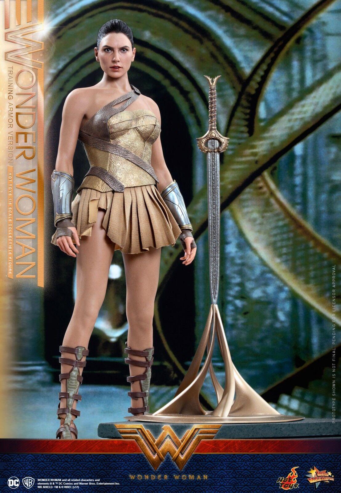 16 Hot Toys armadura de capacitación de Mujer Maravilla Figura De Acción Set Completo MMS424 ver.