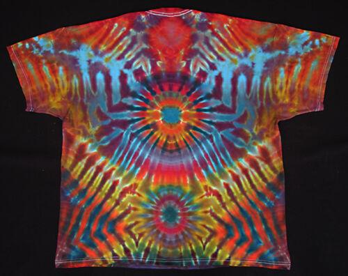 5XL kurzarm handgefärbt Hippie Tie dye Batik Flower Power Goa NEU T-Shirt Gr.S