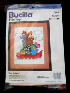 Bucilla-Stitchery-Kit-No-49608-Sampler-TWO-BY-TWO-11-034-X-14-034-New