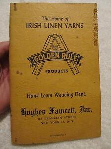 Vintage-Catalog-Hughes-Fawcett-Looms-and-Loom-Supplies-Hand-Loom-Weaving-1940s