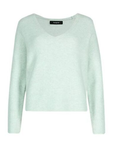 Fa M ou S High St Women/'s M S Long Sleeve V-Neck Felted Jumper with Wool RRP £45