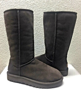 UGG-CLASSIC-TALL-II-CHOCOLATE-WATERPROOF-SHEARLING-Boot-US-11-EU-42-UK-9