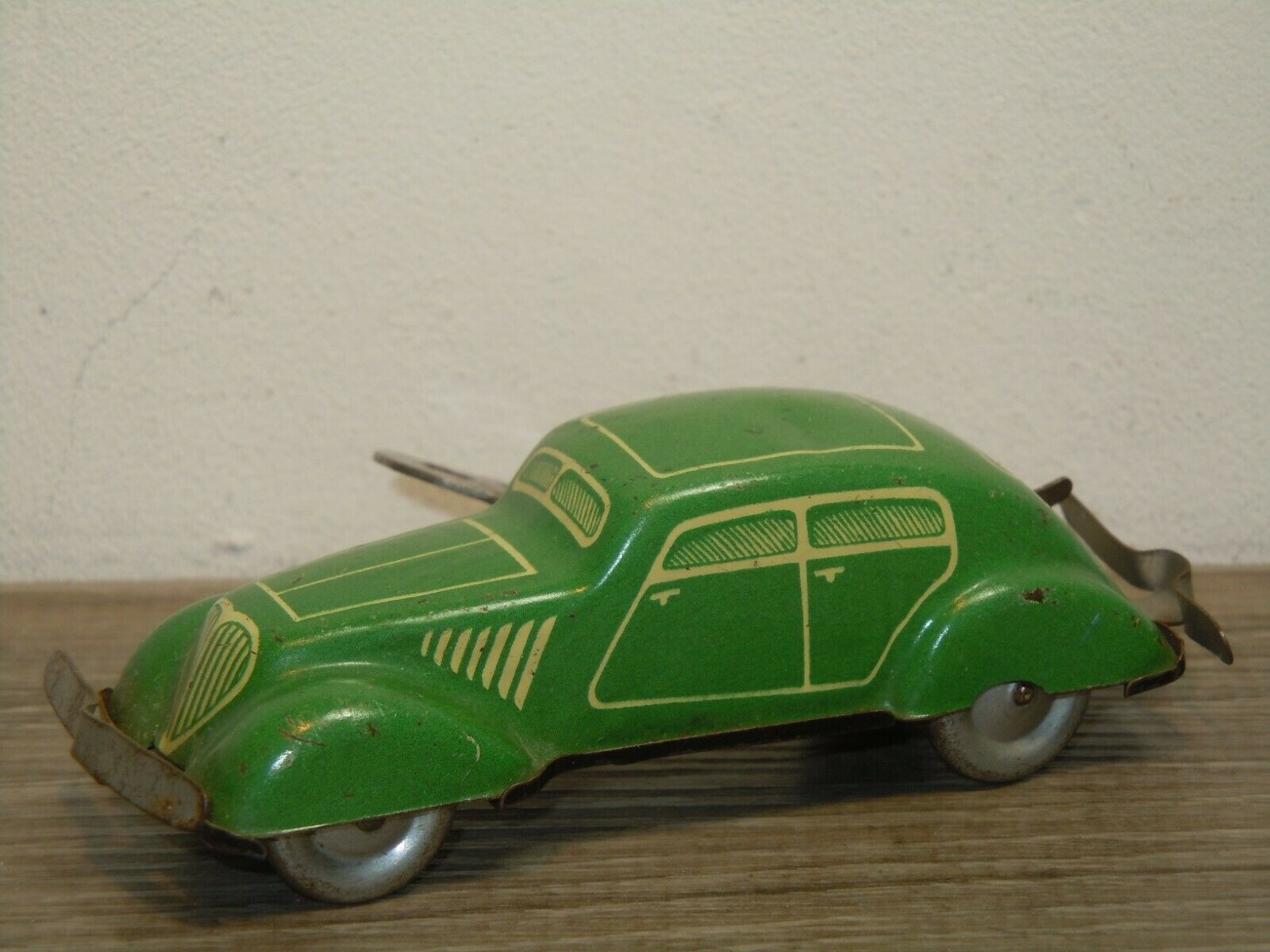Tinplate Saloon Car - Made in Germany US Zone 38221
