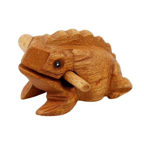 Frog Carved Wooden Croaking Instrument Musical Sound Frog Handcraft Funny Toys