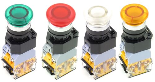Voltage Color Switch Action Yuco YC-P22PMM-MI Illuminated Push Button Choose