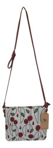 Mackintosh Rose Flower Design Small Pouch Cross body Bag