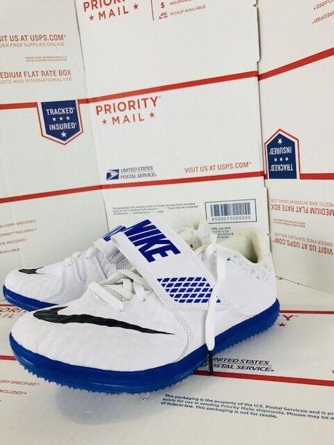 Nike 6 HJ High Jump Elite White Track Spikes 806561-100 Size 4