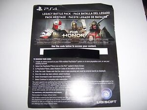 Details about For Honor Download Code DLC Add-on for Legacy Battle Pack PS4  Playstation 4