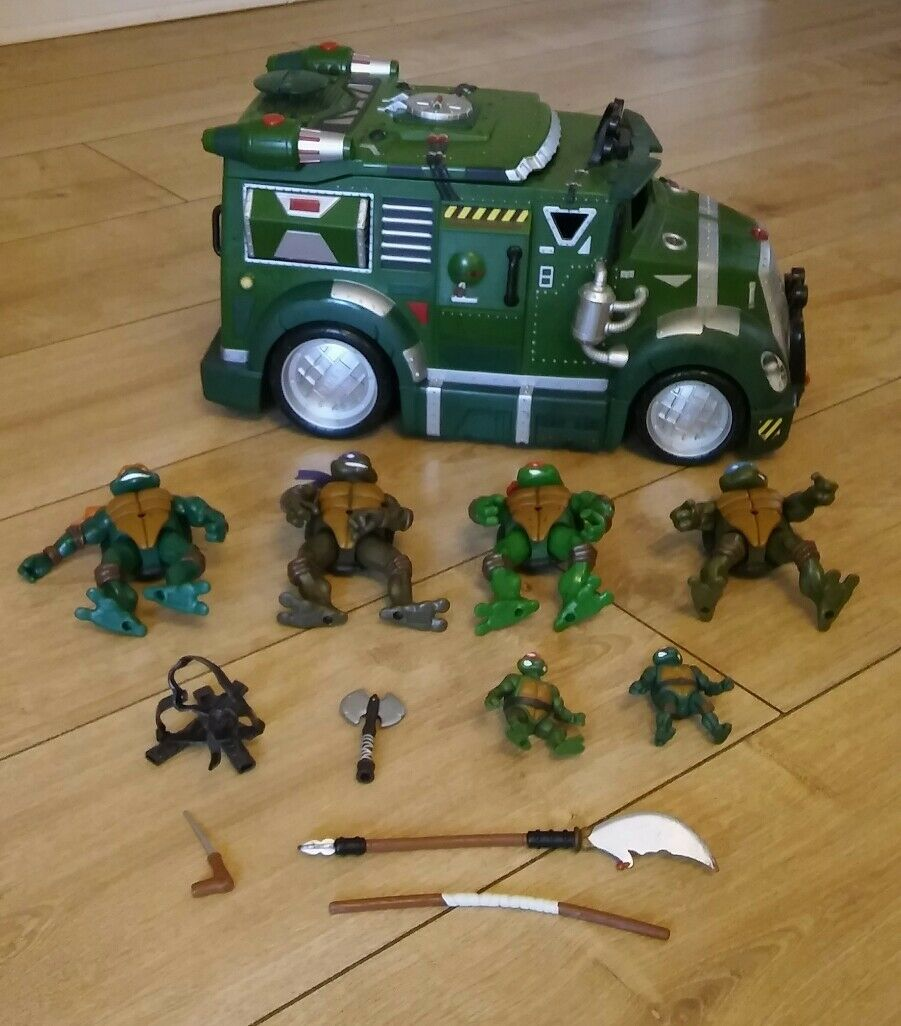 Teenage Mutant Ninja Turtles Vehículo Paquete de 6 figuras figuras figuras de armas 86b10a