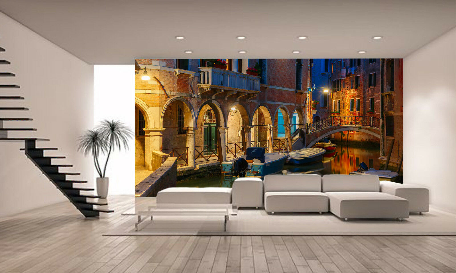 Canal and Bridge in Venice Wall Mural Photo Wallpaper GIANT DECOR Paper Poster