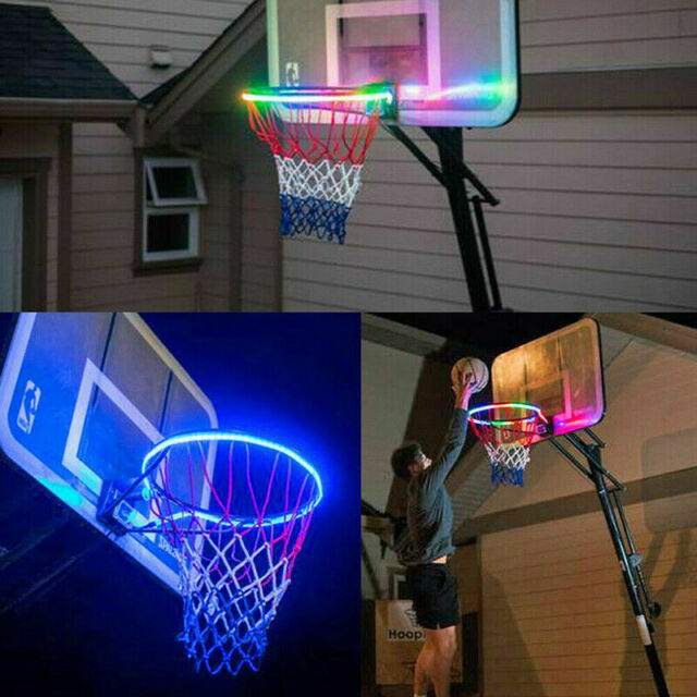 8 Modes Basketball Hoop LED Solar Strip Light Outdoor Flash Night Rim Lighting