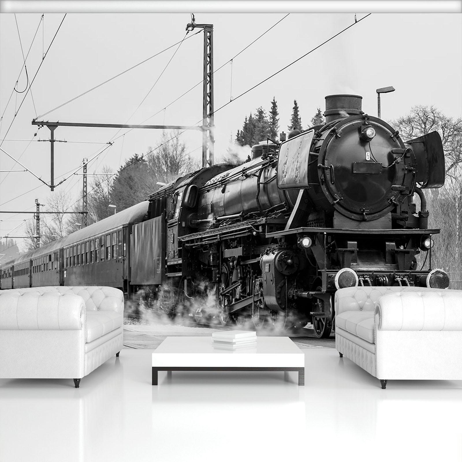 Vließ Fototapete Tapete Wandbild Dampflokomotive 311385_VEMVT