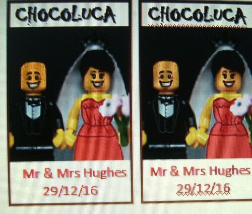 LEGO FIGURES /& BRICK 30 WEDDING FAVOUR BAG FILLERS CHOCOLATE MIXED WHITE or MILK