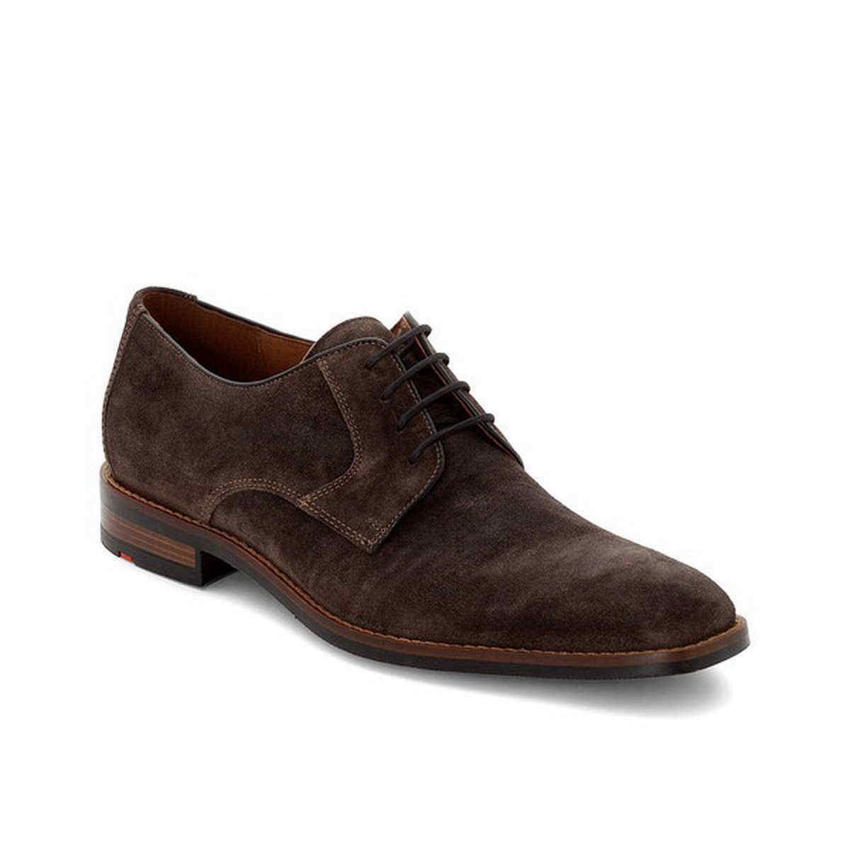 Lloyd Business Stuart Dove gris nobuck cuero suela de caucho con cordones zapato 28-633-41