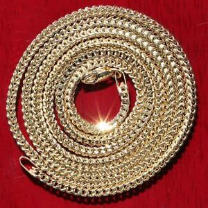 10k-yellow-gold-22-0-034-Franco-link-chain-necklace-vintage-5-0gr