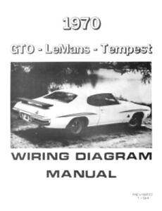 Pontiac 1970 Tempest Gto Wiring Diagram 70 Ebay