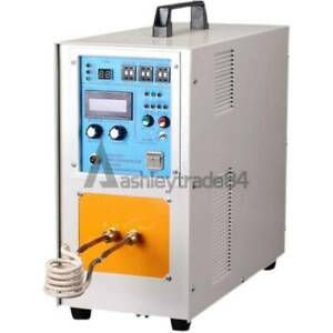 1PCS 15KW 30-100KHz High Frequency Induction Heater Furnace 15A 110/220V