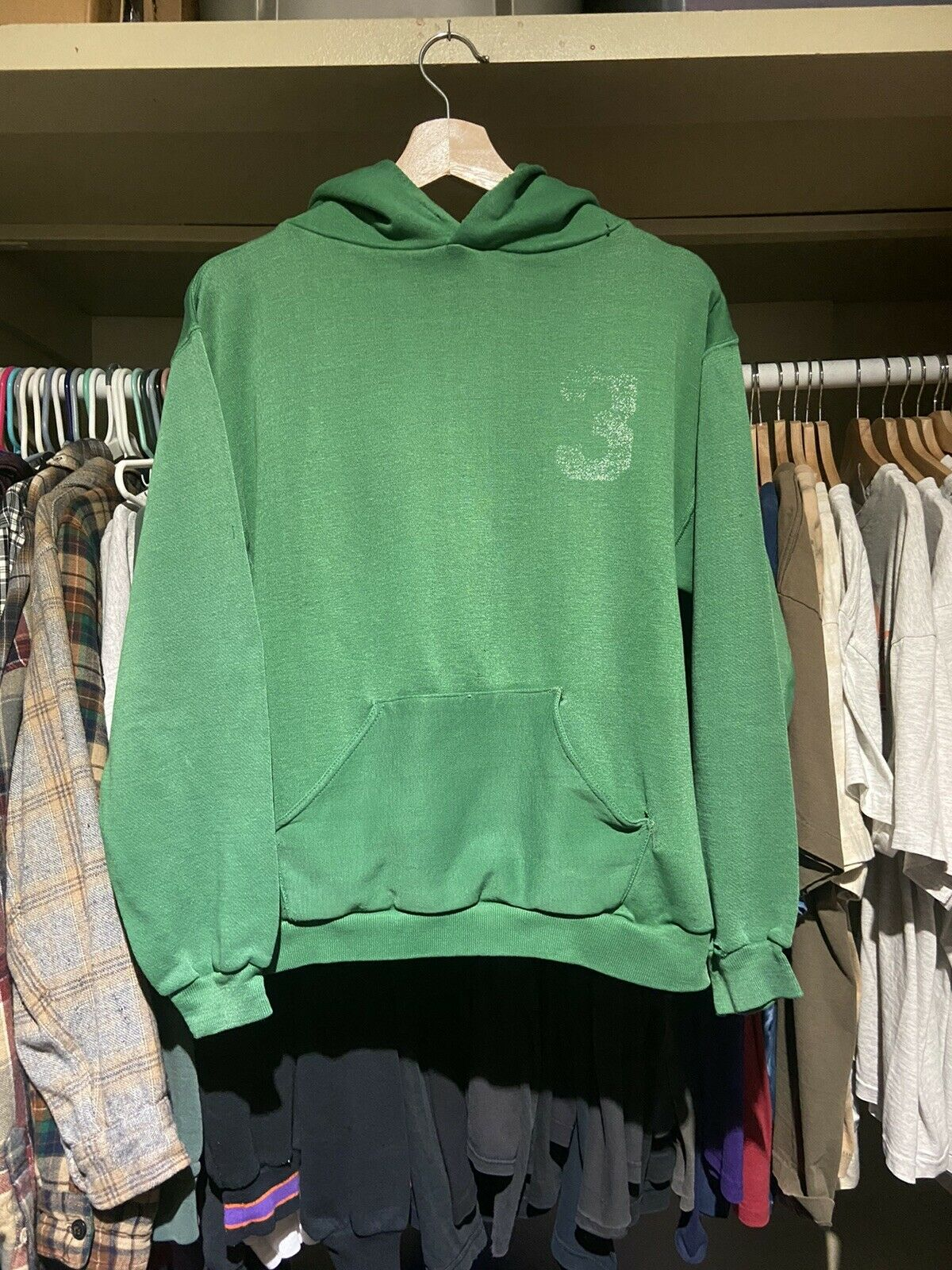 Vintage 70s Russell Athletic Green Pullover Hoodi… - image 1