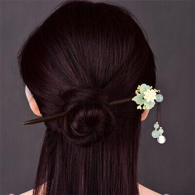 Chinese Style Maple Leaf Hair Clip Beads Long Tassel Hairpin Hanfu Hair Ornament