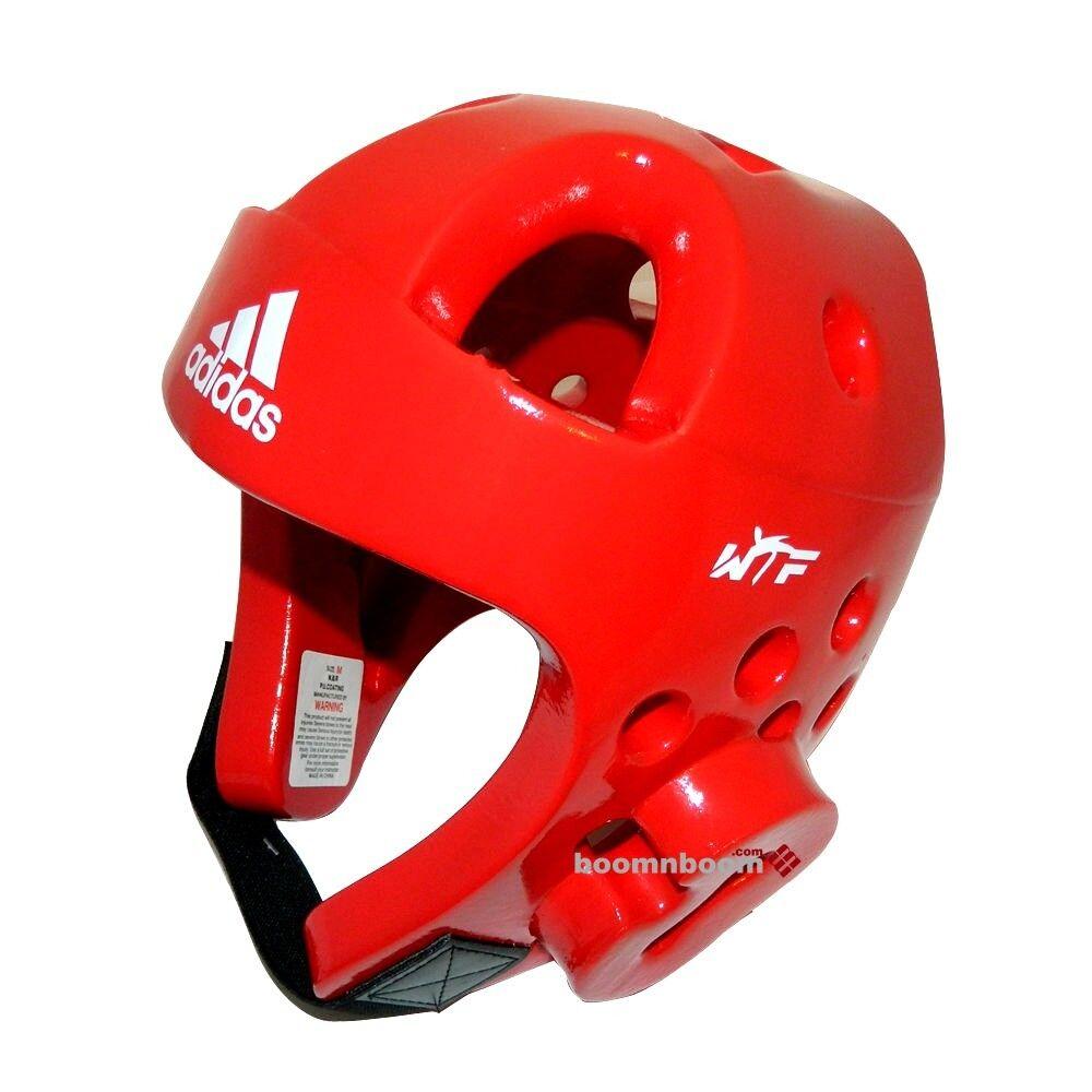 Adidas  Taekwondo Head Gear DELUXE Karate MMA Sparring Helmet Predector Gear-RED  preferential