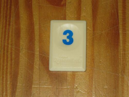 Größe 3,9 x 2,2 cm Ersatzteil für Original Rummikub Spielstein BLAU 3