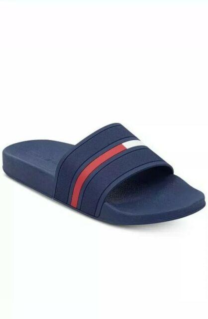 Tommy Hilfiger Men's Ennis Slide Sandals - Dark Blue Size 12