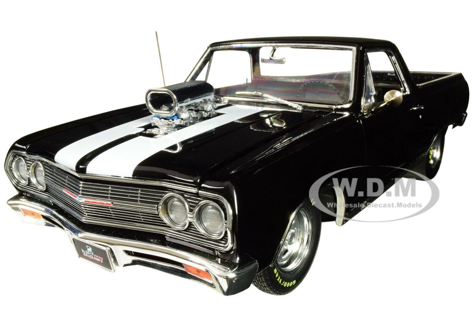al precio mas bajo 1965 Chevrolet el camino  arrastrar proscrito proscrito proscrito  Edición Limitada 1 18 Diecast Acme Negro A1805409  suministro directo de los fabricantes