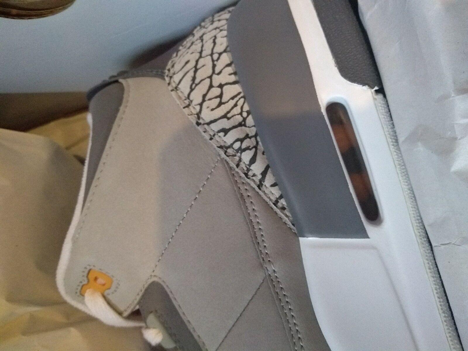 Jordan Grey 3 Cool Grey Jordan LS DS Size 9.5 100% Authentic gray 05260b