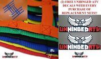 Yellow Honda Trx400ex Replacement Nerf Bar Nets For Alba,tusk,silver Tech,rock