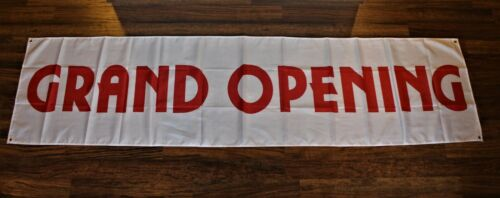 New Grand Opening Now Open Banner Sign Flag 2x8 Big Restaurant Store Advertising