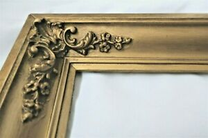 "Antique Fits 6 X 26"" Gold Picture Frame Wood Gesso Fine Art Ornate Country"