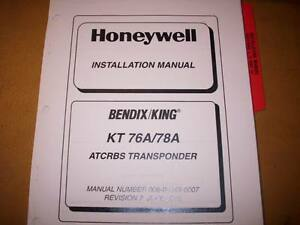 king kt 76a and 78a transponder install manual ebay rh ebay com King KT 76A Transponder Manual king kt76a manual