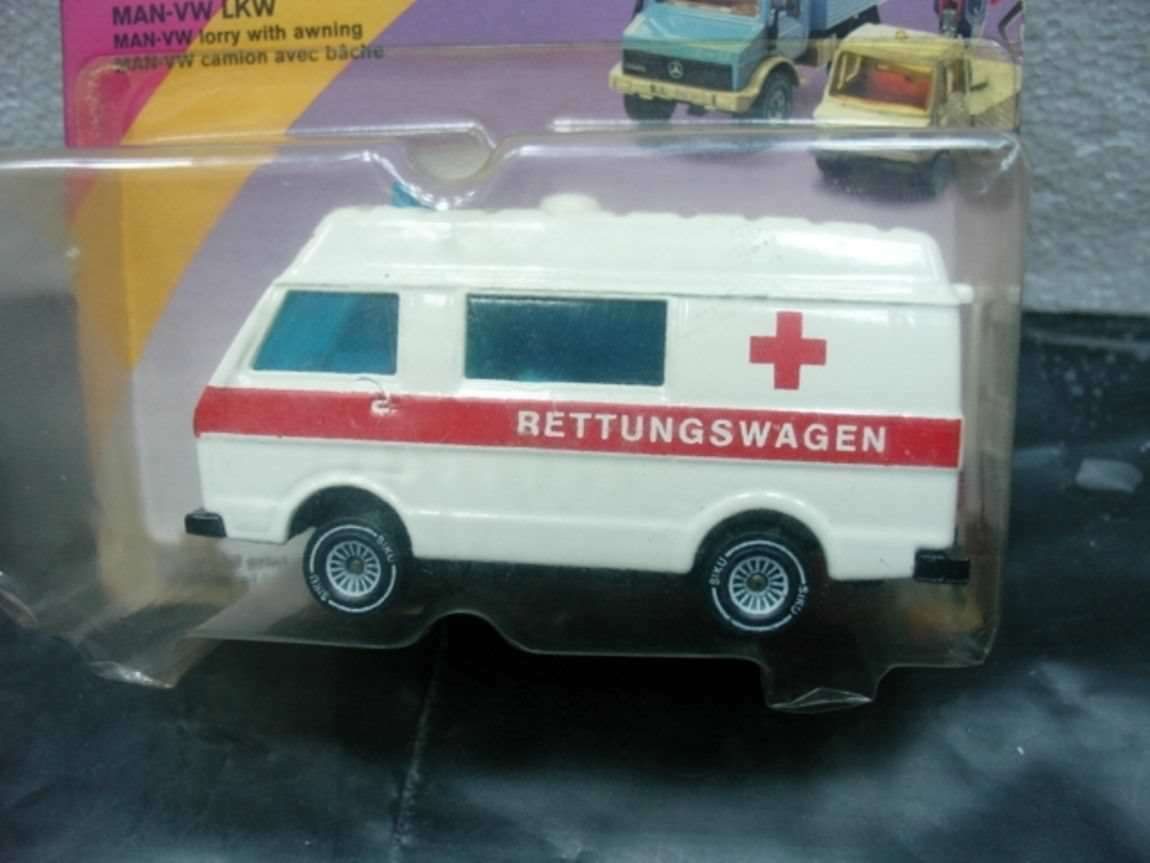 WOW estremamente raro  1711 MAN-Volkswagen Ambulanza BLISTER BOX 1 55 Siku